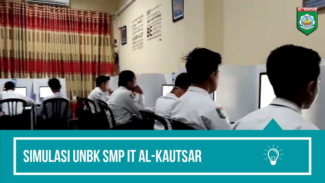 Suasana Simulasi UNBK SMP IT Al-Kautsar
